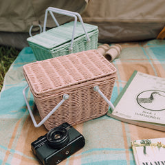 Storage . Small Picnic Basket - Piki / Mint Green