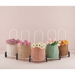 Toy . Pull along basket - Luggy / Rose Pink