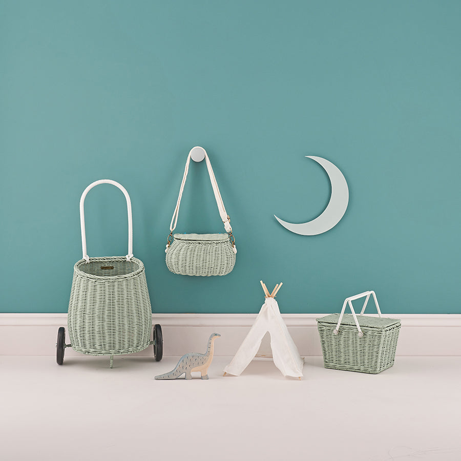 Toy . Pull along basket - Luggy / Mint Green