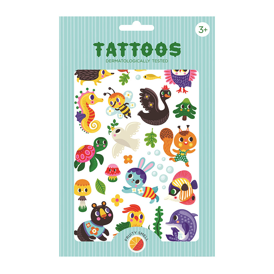 Temporary Play Tattoos . 2 Sheets - We Are Family - Fruity Scent