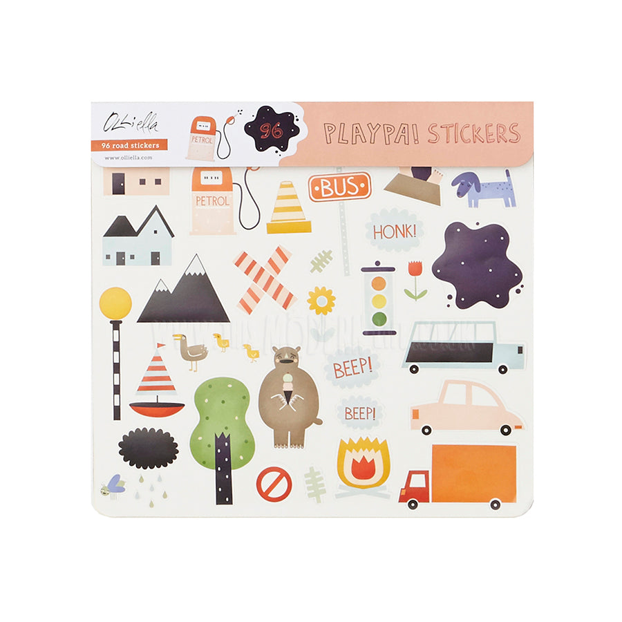 Playpa Stickers . Paper Activity Stickers / Road