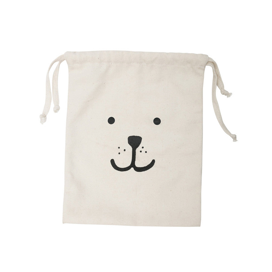 Storage . Cotton Bag - Bear / Small