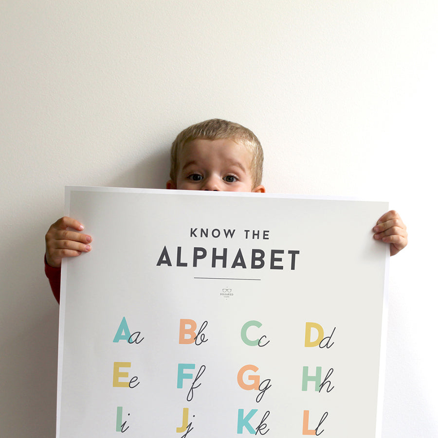 Poster . Learning - Alphabet