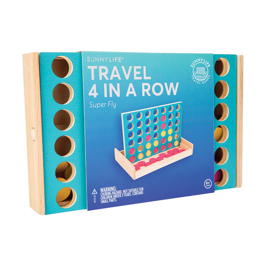Toy . Wooden 4 In A Row - Fly / Travel