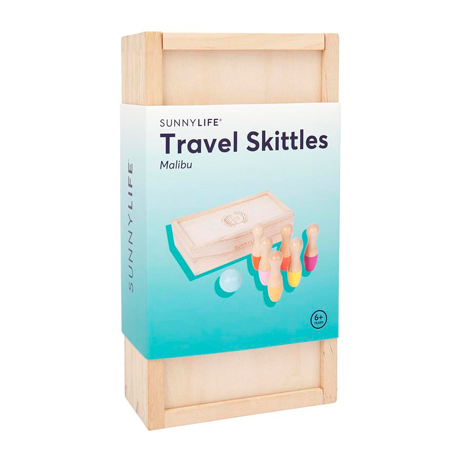 Toy . Wooden Skittles - Malibu / Travel