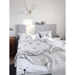Bedding Set . Bear Face - Single