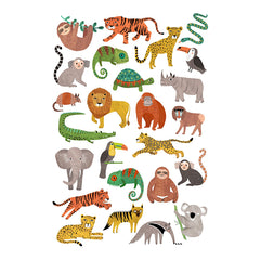 Temporary Play Tattoos . Jungle Animals
