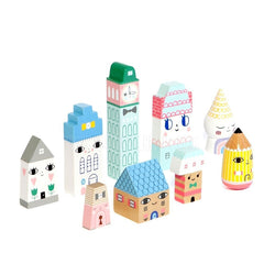 Toy . Wooden Blocks / Create Your Own City - Suzy Ultman