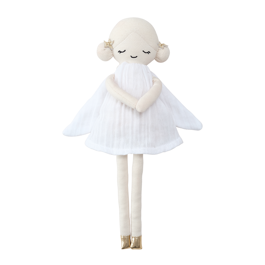 Soft Toy . Organic Cotton Doll -  Winter Fairy