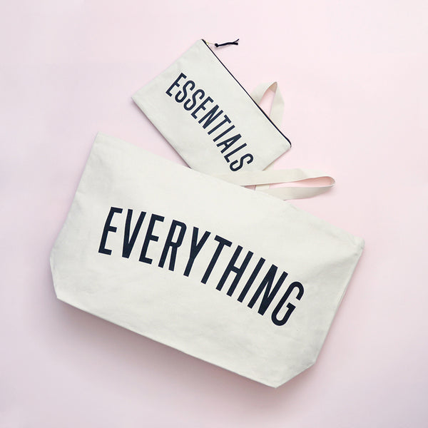 Canvas Pouch . Essentials - Large