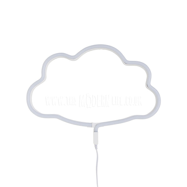 Neon Light . Cloud - White / Yellow