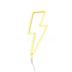 Neon Light . Lightning - White / Yellow
