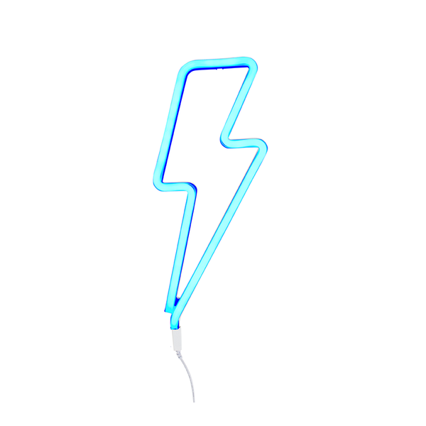 Neon Light . Lightning - Blue