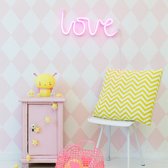Neon Light . Love - Pink