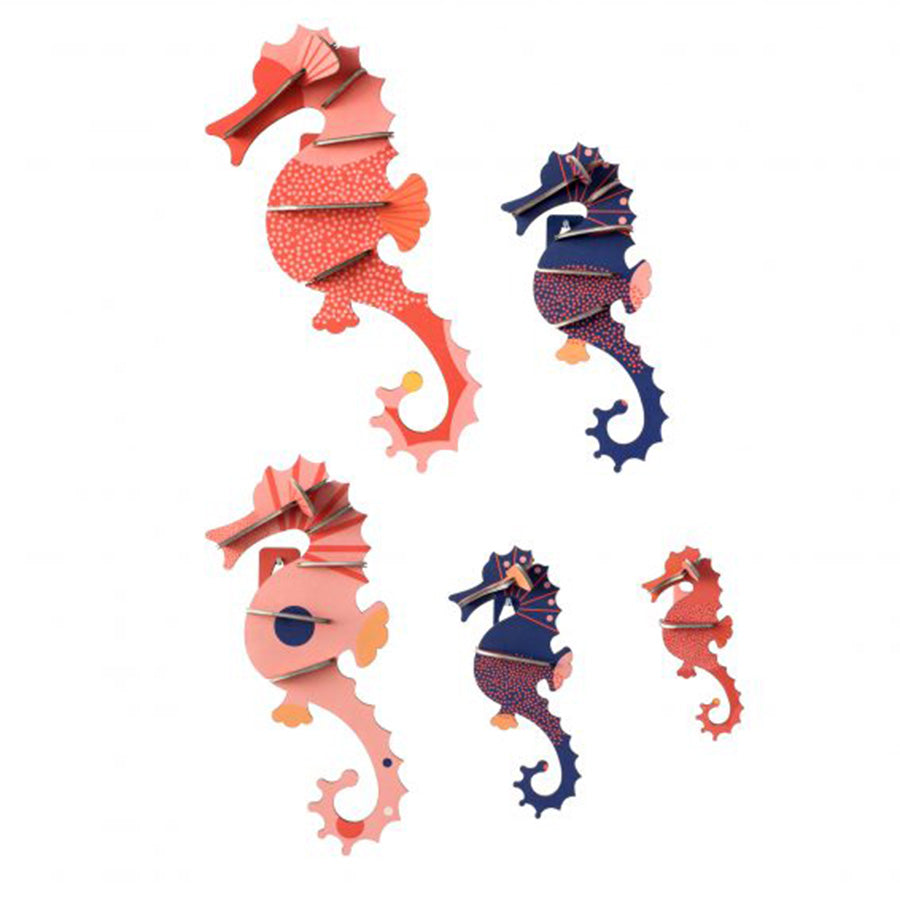 Wall Decor . Sea Animals - Sea Horses / Set of 5