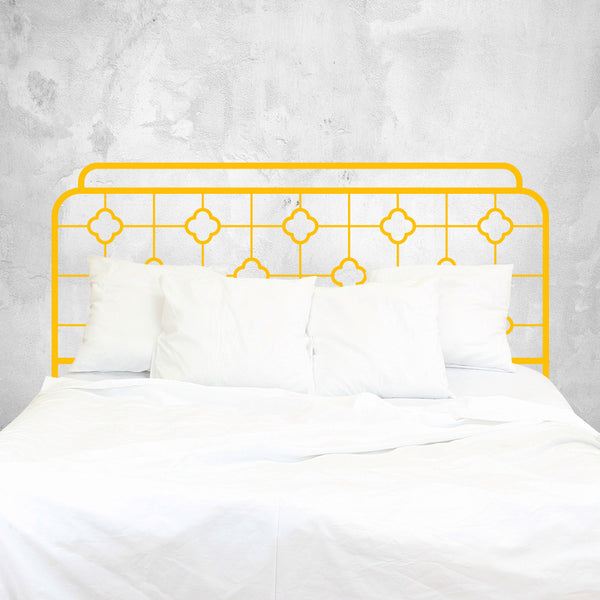 Chinoiserie Iron Bed Headboard Wall Decal Sticker