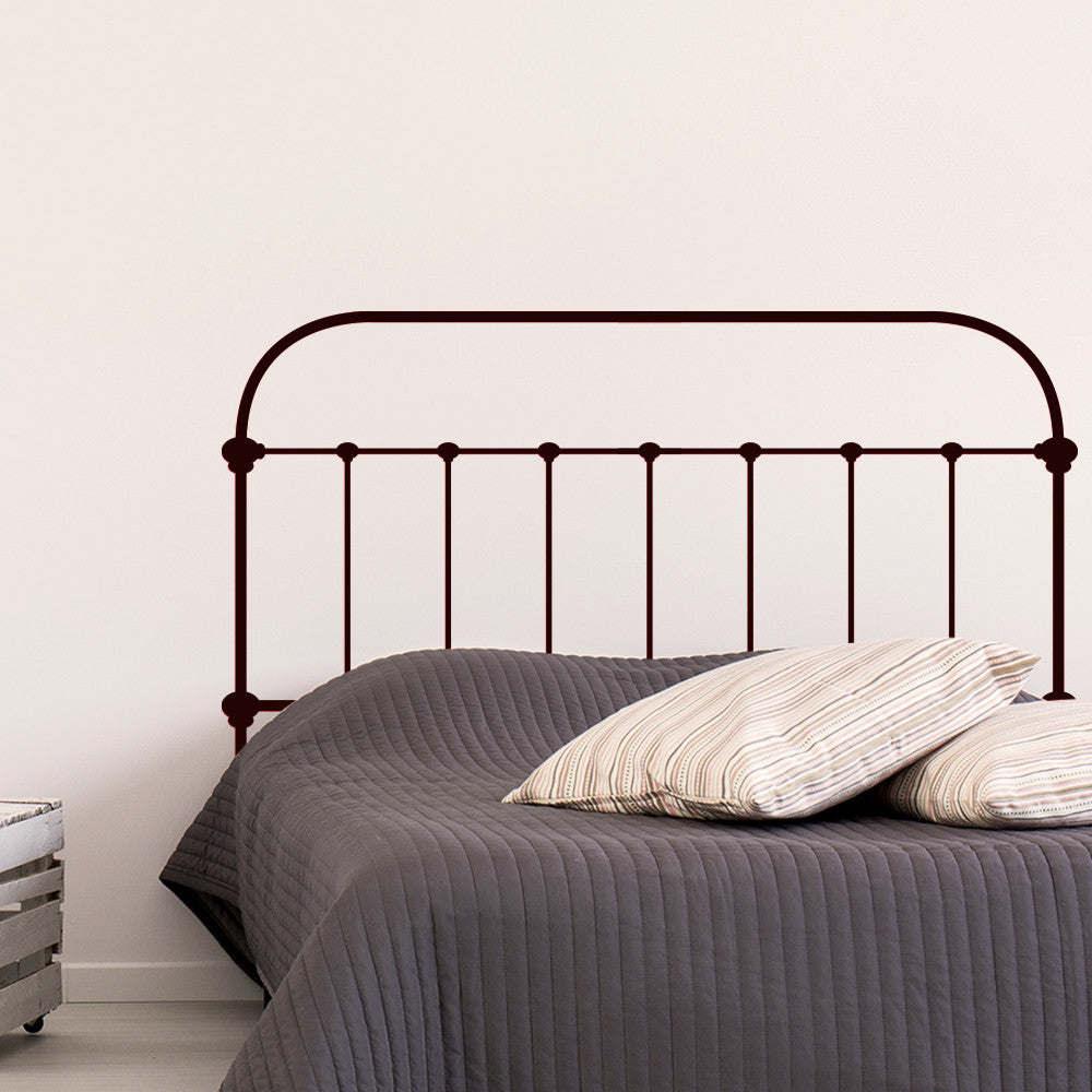 Industrial Iron Headboard Wall Decal Sticker