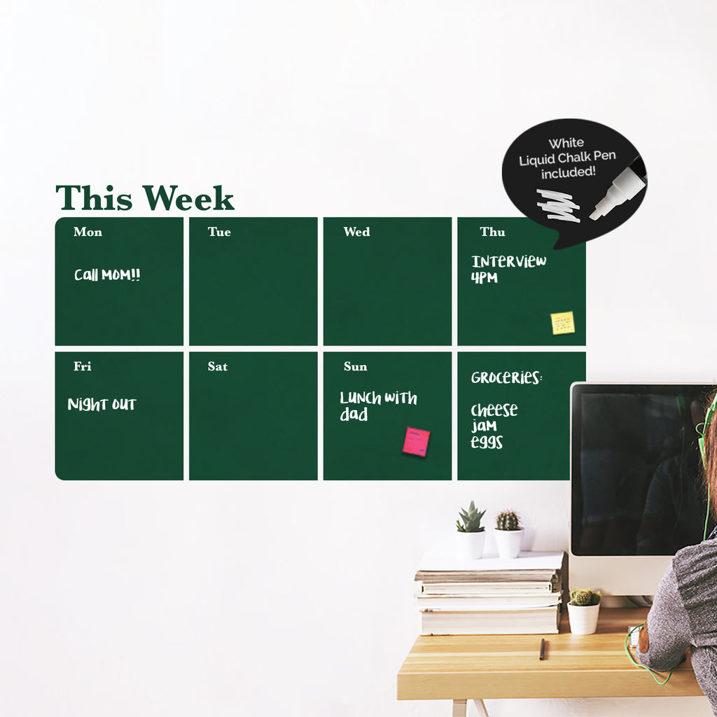 Weekly Chalkboard Planner Decal