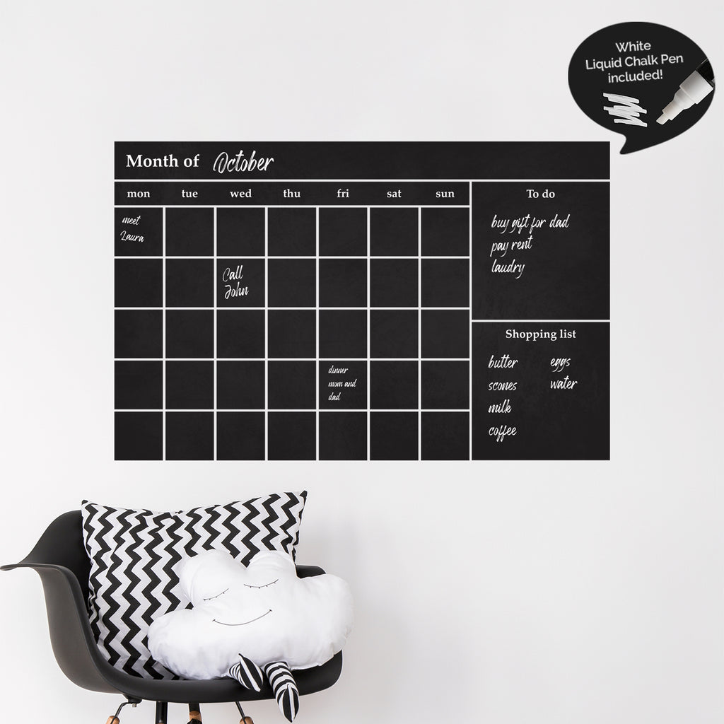 Monthly Wall Planner Decal