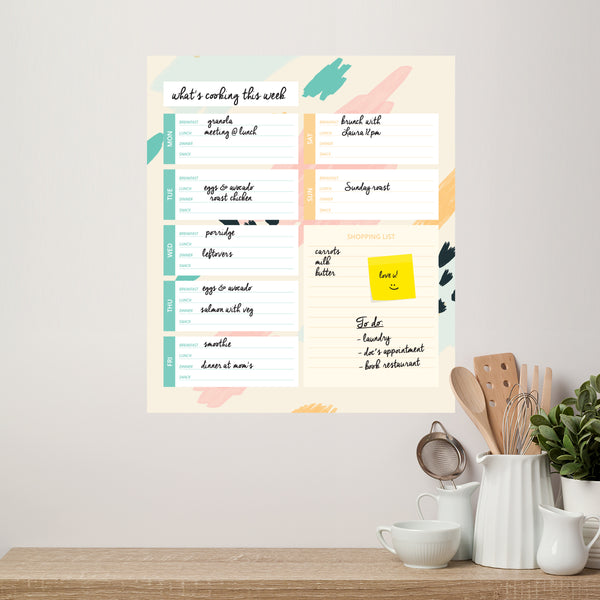 Weekly Menu Whiteboard Kitchen Meal Planner