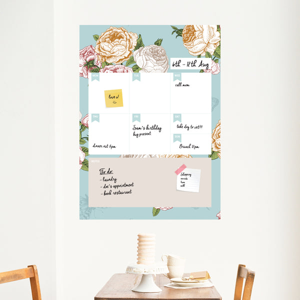 Floral Weekly Planner Wall Decal