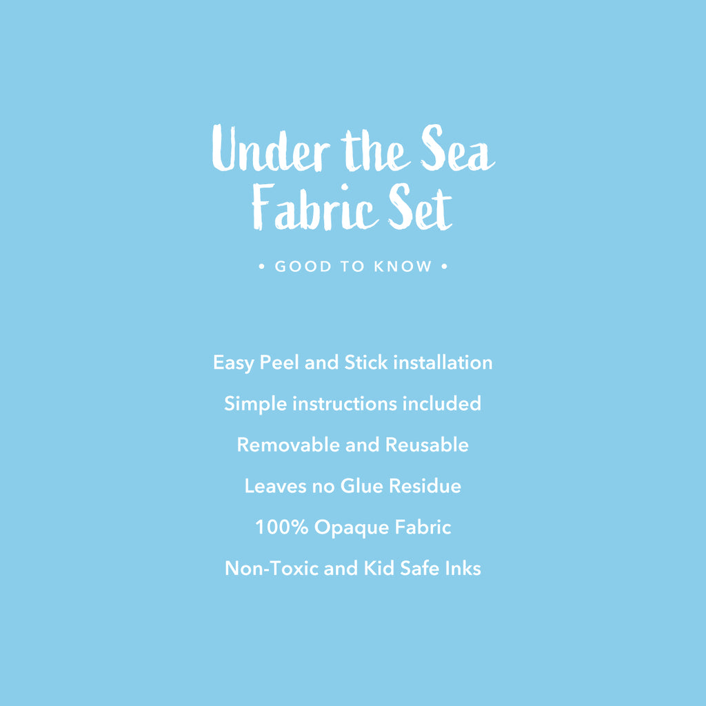 Under The Sea Fabric Wall Sticker Set