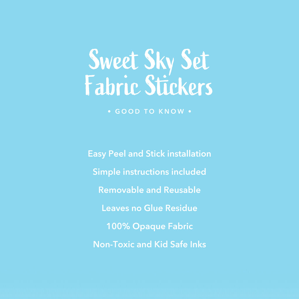 Sweet Sky Set Fabric Wall Stickers