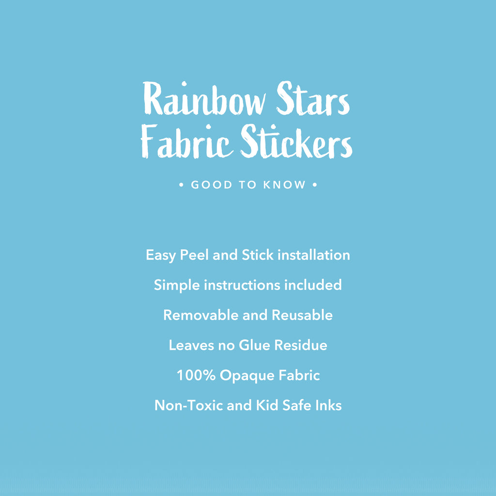 Rainbow Stars Fabric Wall Stickers