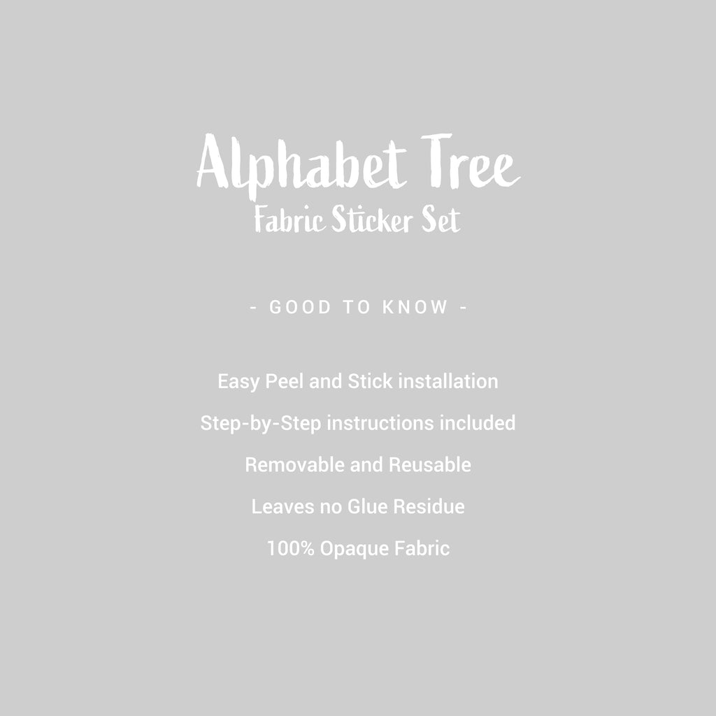 Alphabet Tree Fabric Wall Sticker Set - Green