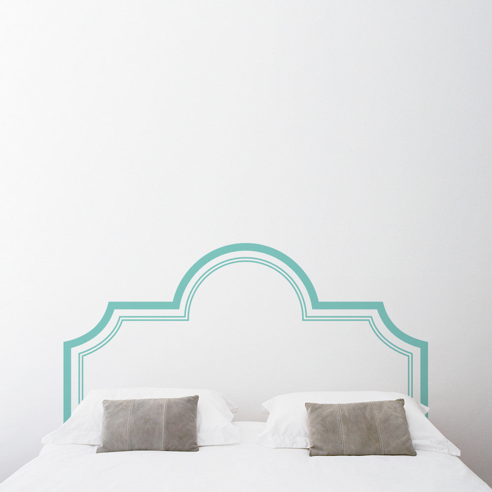 Elegant Headboard Wall Decal Sticker