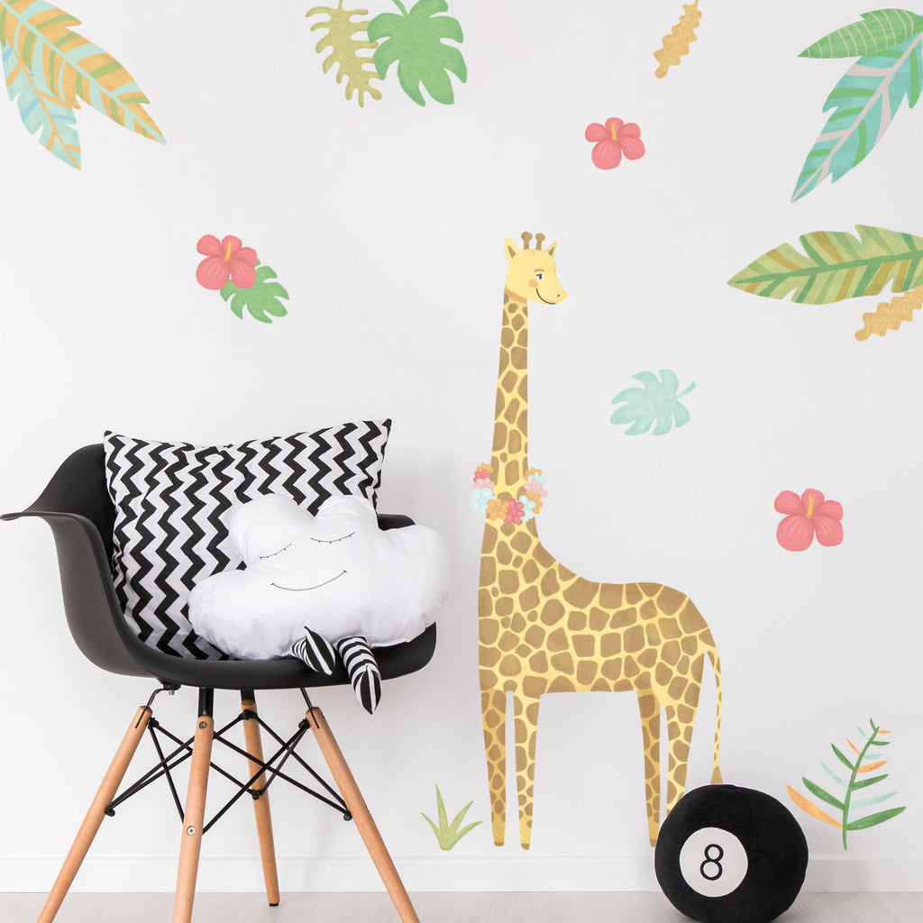 Giraffe - Jungle Animals Fabric Wall Sticker