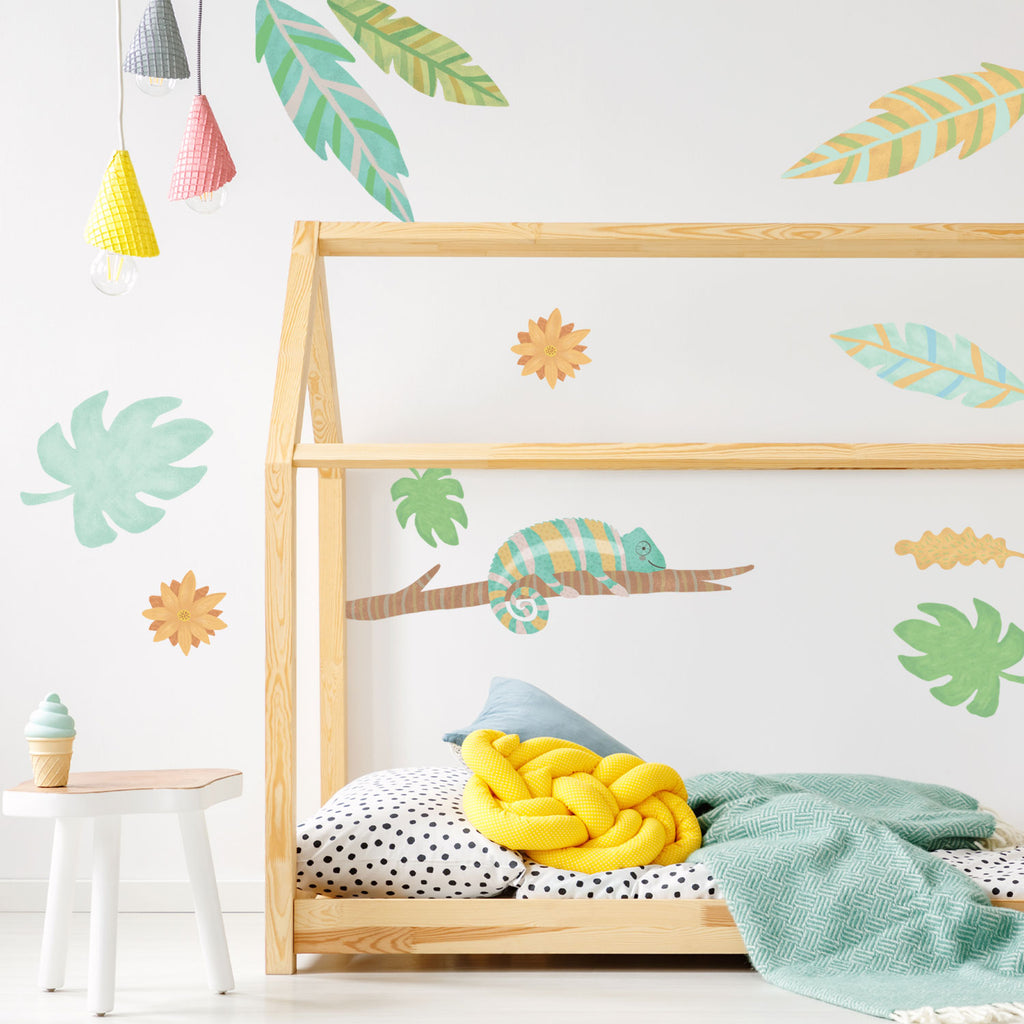 Chameleon - Jungle Animals Fabric Wall Sticker