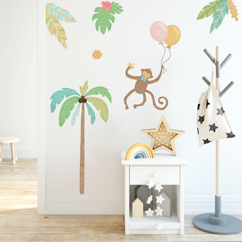 Monkey - Jungle Animals Fabric Wall Sticker