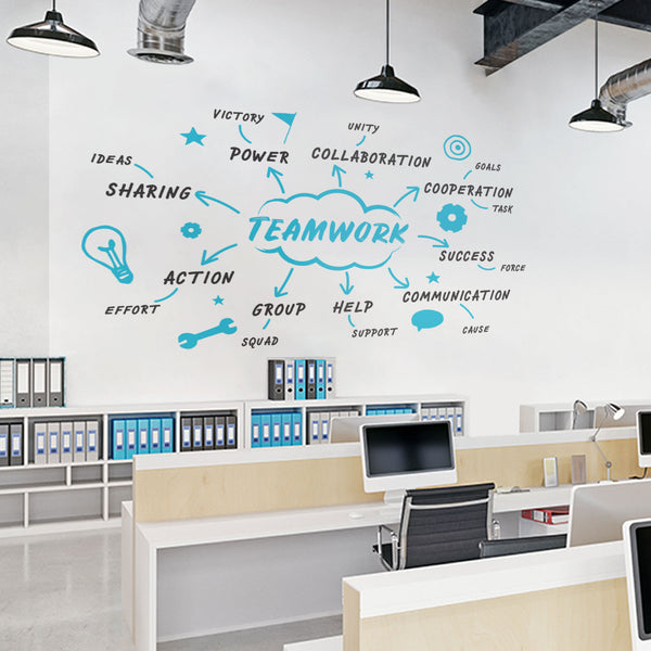 Teamwork Diagram Office Wall Decal