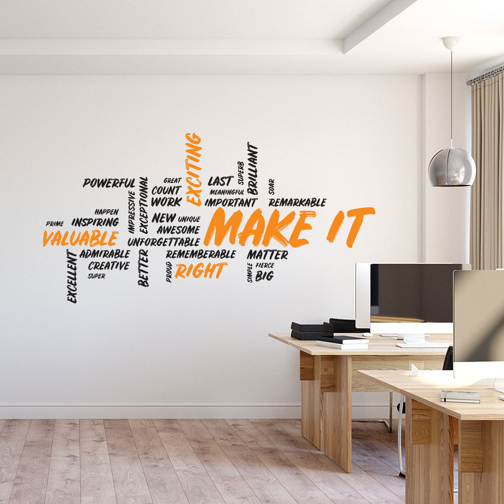 Make It Wall Decal - Motivational Art - Office Wall Art