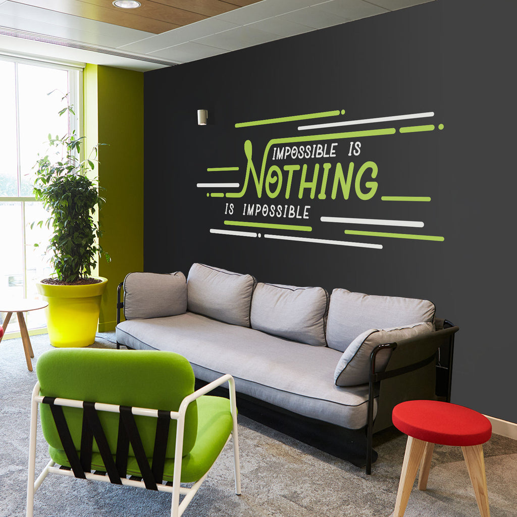 Nothing is Impossible Office Wall Decal
