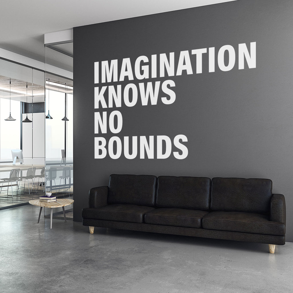 Imagination Knows no Bounds Office Wall Decal