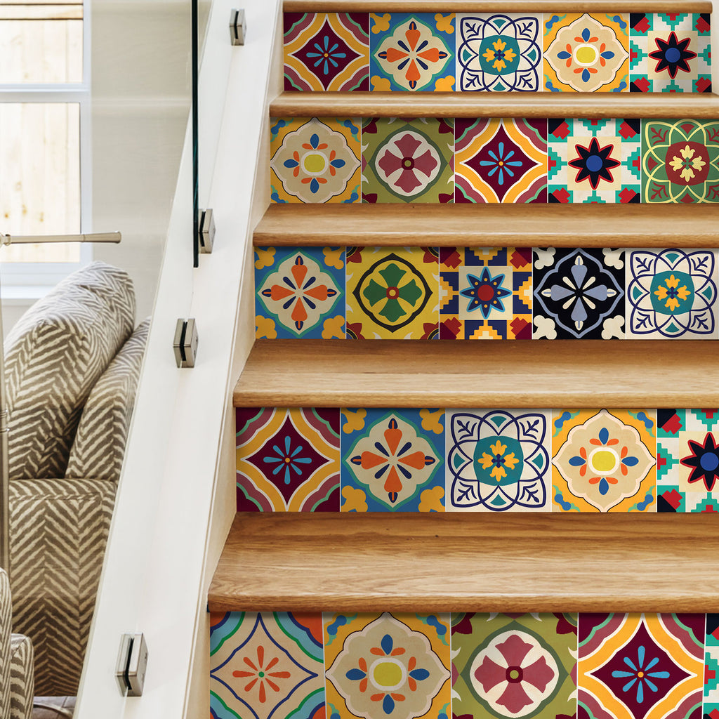 Talavera Stair Riser Stickers - PACK OF 6