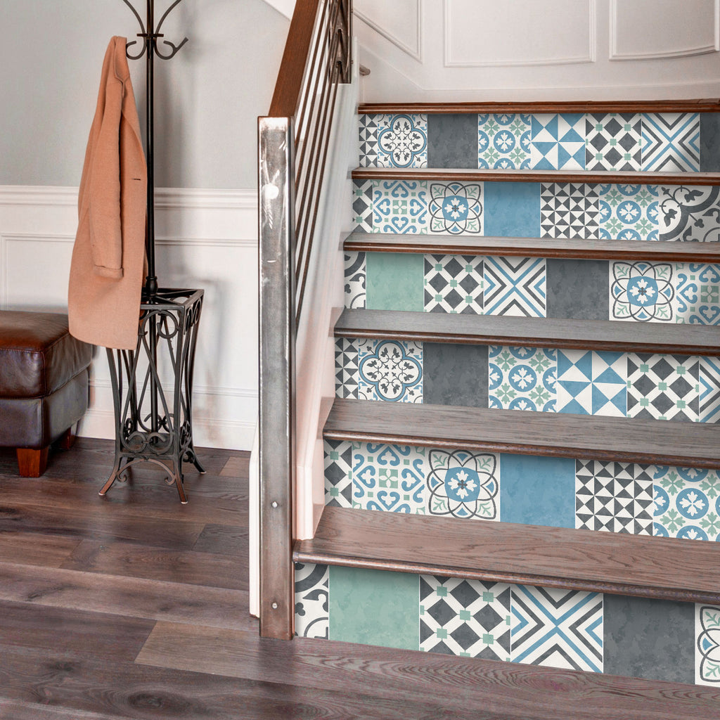 Portuguese Pastel Stair Riser Stickers - PACK OF 6