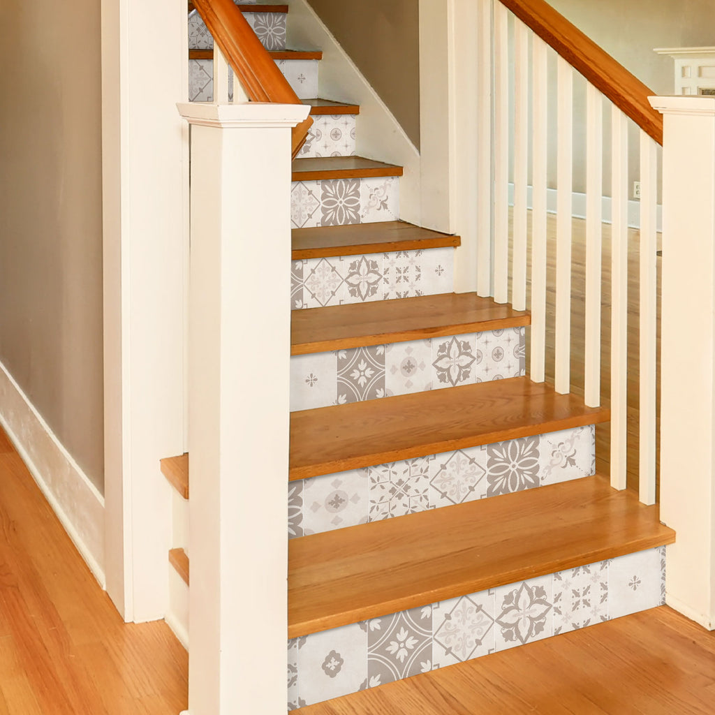 Soft Floral Stair Riser Stickers - PACK OF 6