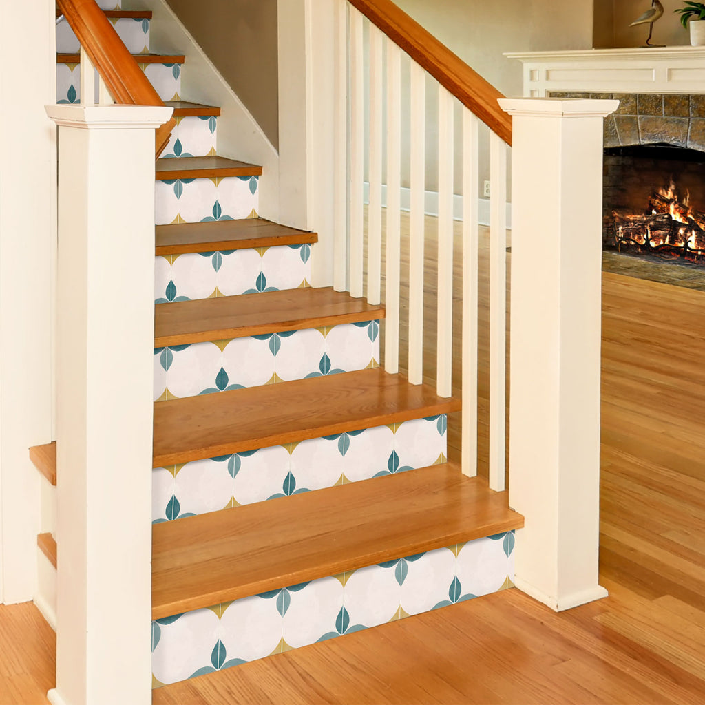 Eveningstar Teal Stair Riser Stickers - PACK OF 6