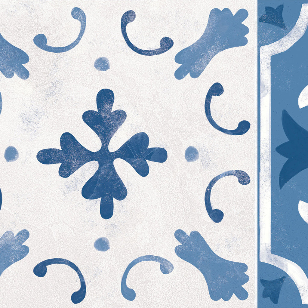 Santorini Blue Stair Riser Stickers - PACK OF 6