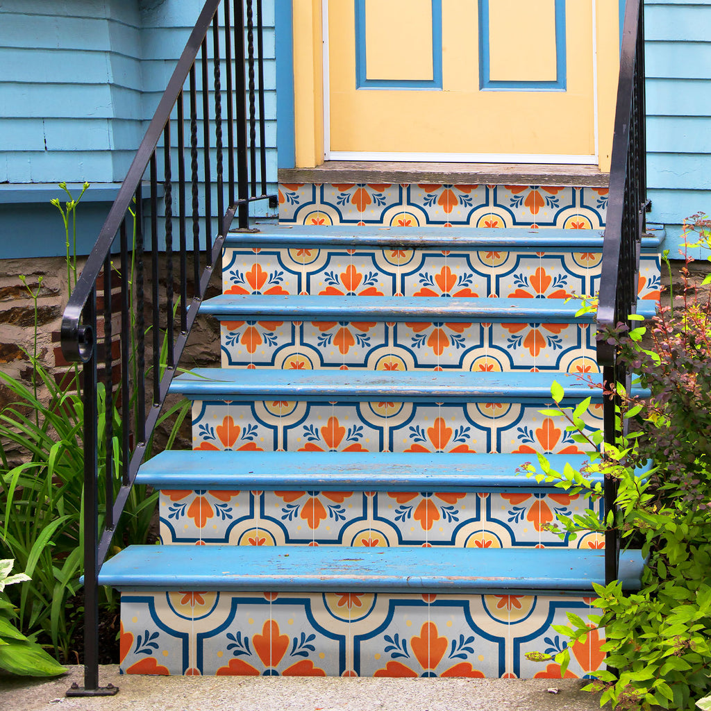 Gardenia Orange Stair Riser Stickers - PACK OF 6