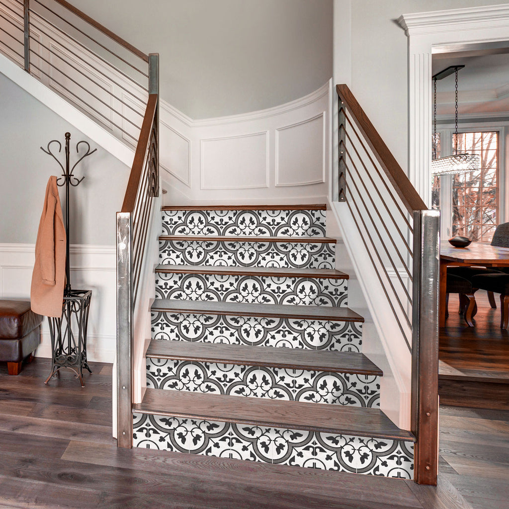Moroccan Limestone Stair Riser Stickers - PACK OF 6