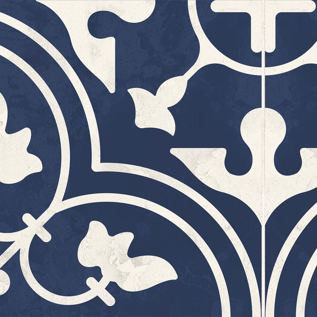 Moroccan Indigo Stair Riser Stickers - PACK OF 6