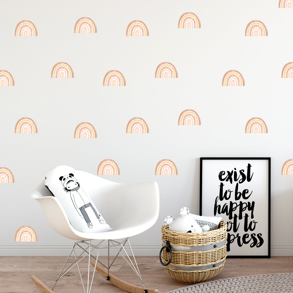 Rainbows Fabric Wall Stickers Set