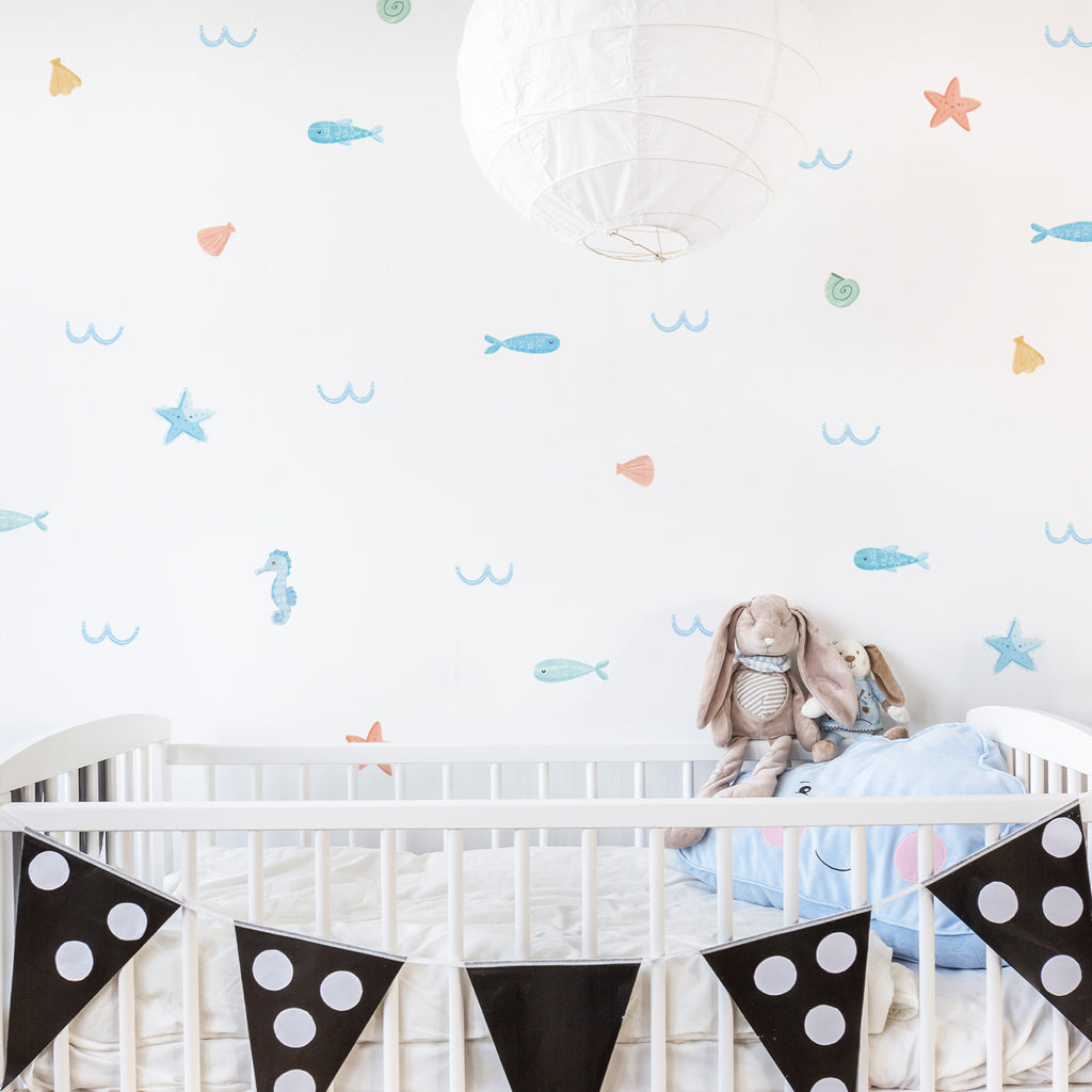 Under the Sea Fabric Wall Stickers