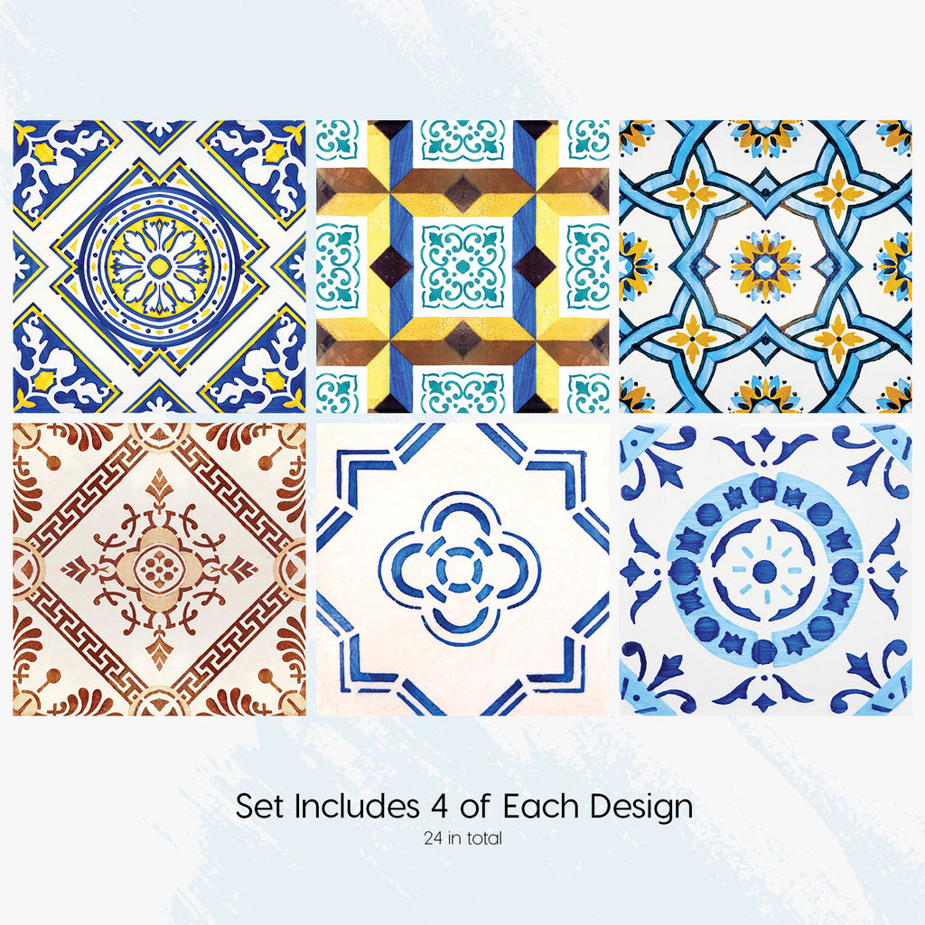 Lisbon Mouraria Tile Decals Set - PACK OF 24