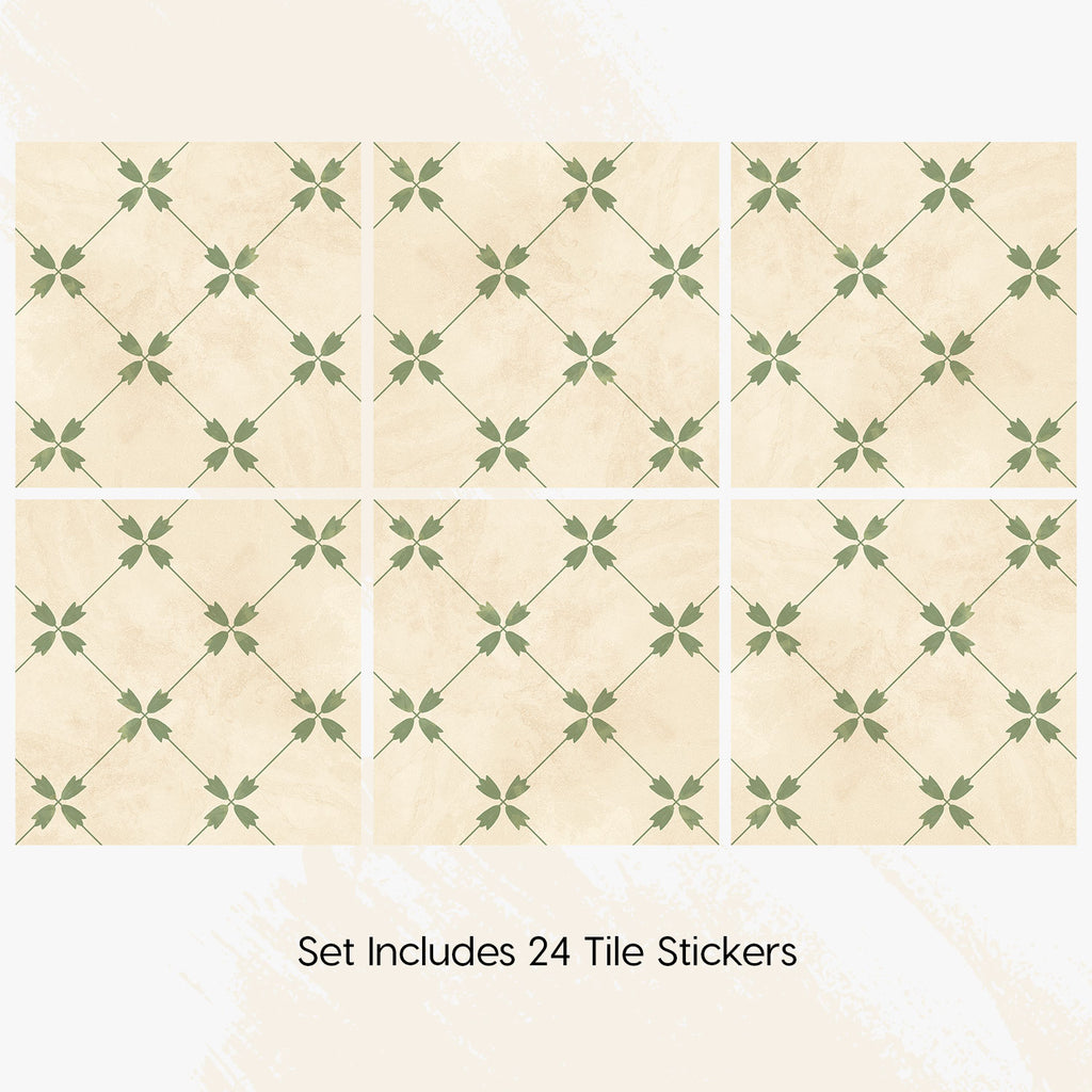Portuguese Azulejo Tile Decals - Tile Stickers Set for Kitchen and Bathroom - PACK OF 24