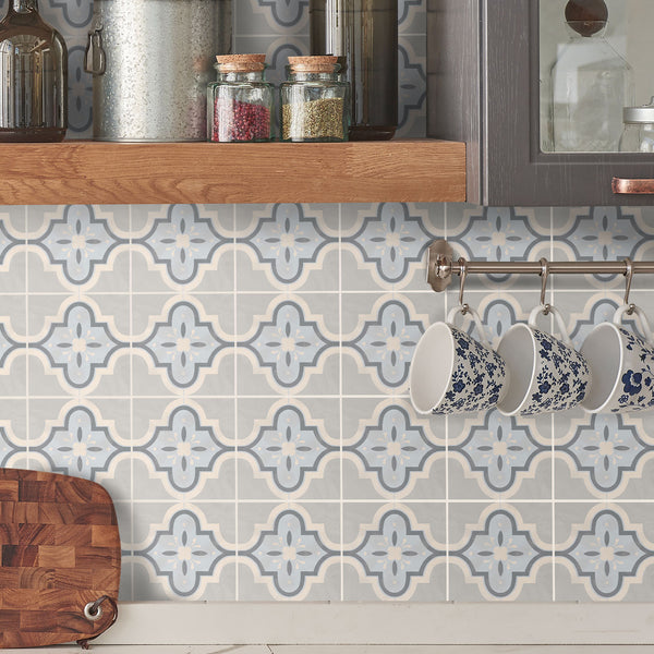Havana Blue Tile Decals - Tile Stickers Set for Kitchen and Bathroom - PACK OF 24